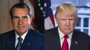 Richard Nixon y Donald Trump